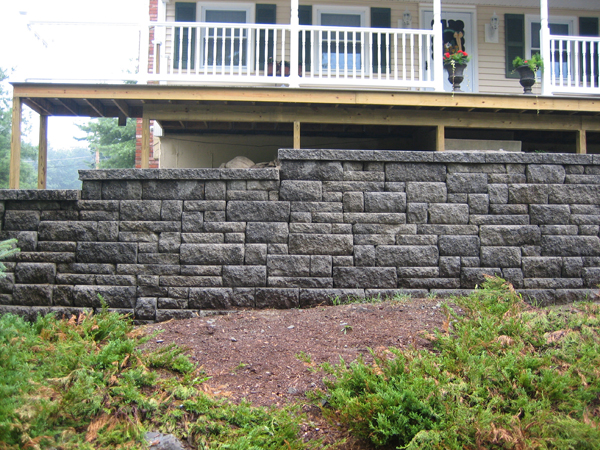 Block Retaining Wall Tie Backs : Types of block used for walls granite wallstone blocks