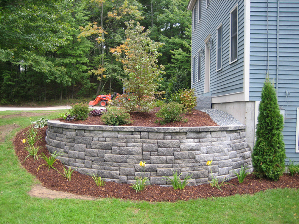 Landscaping With Stone Blocks : Nh front and backyard landscaping with stone masonry al s